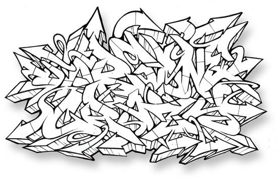 Abecedarios graffiti wildstyle - Imagui
